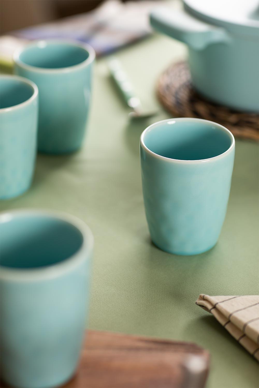 Pack de 4 Vasos en Cerámica Biöh, imagen de galería 1