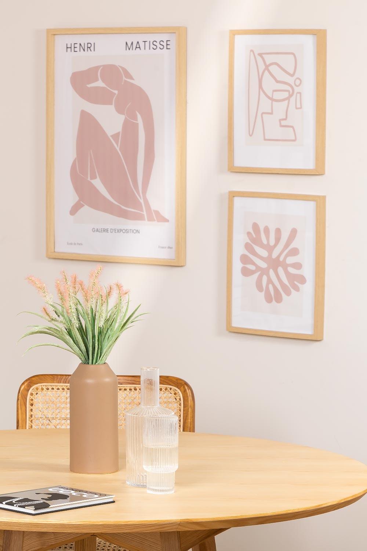 Set de 3 Láminas Decorativas (50x70 y 30x40 cm) Donna, imagen de galería 1