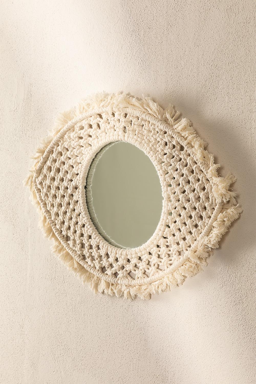 Espejo de Pared en Macramé Brice, imagen de galería 1