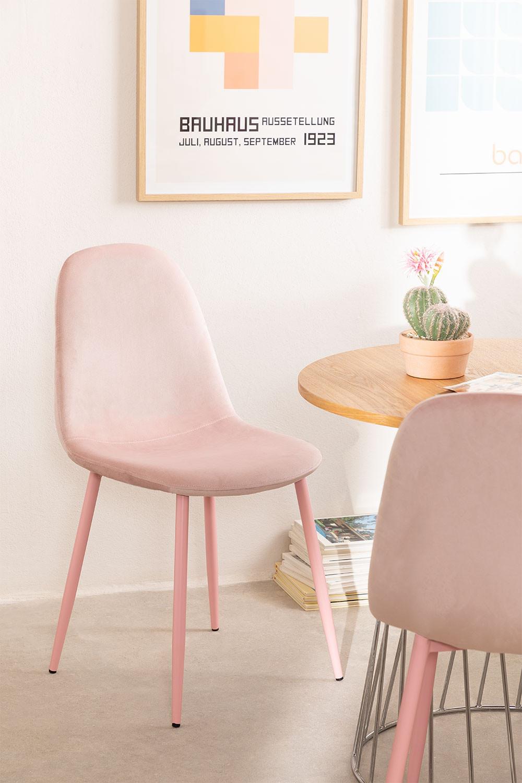 Silla de Comedor en Terciopelo Glamm Colors  , imagen de galería 1