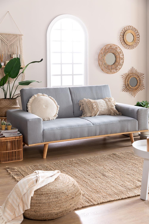 Sofa Cama de 3 Plazas en Lino Hesson, imagen de galería 1