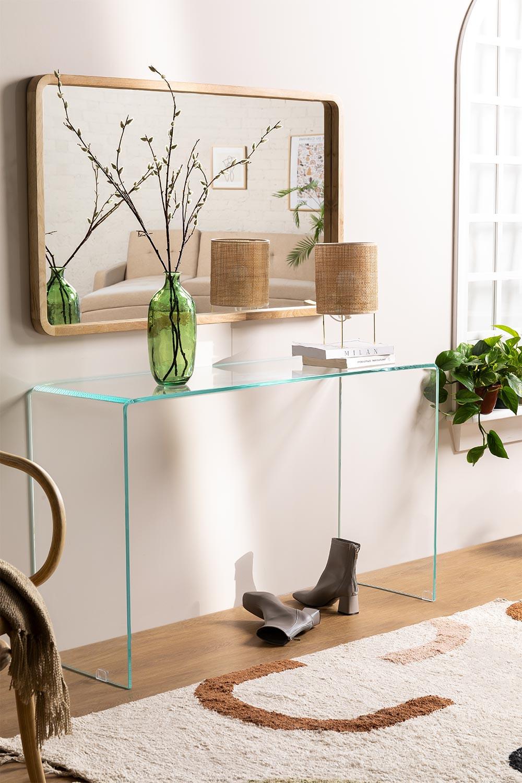 Consola en Cristal Transparente Hista, imagen de galería 1