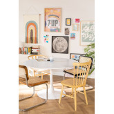 Mesa de Comedor Redonda en MDF y Metal Tuhl Style, imagen miniatura 1