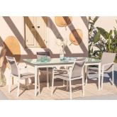 Set Mesa Extensible (180-260 cm) Hari & 4 Sillas de Jardín Eika, imagen miniatura 6
