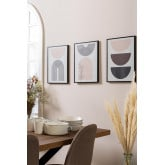 Set de 3 Láminas Decorativas (30x40 cm) Geos, imagen miniatura 1