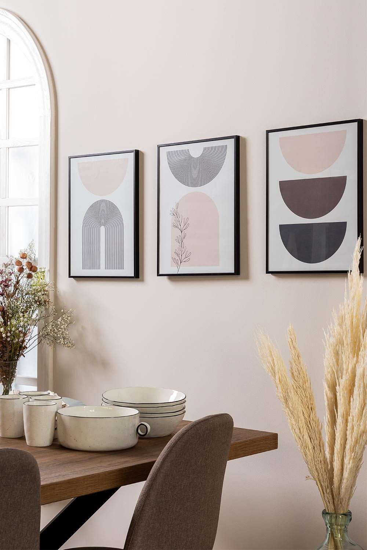 Set de 3 Láminas Decorativas (30x40 cm) Geos, imagen de galería 1