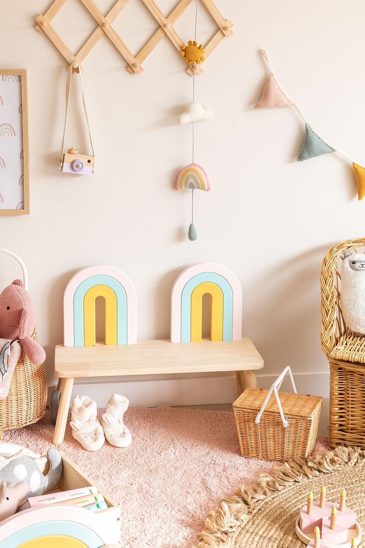 Banco en Madera Mini Rainbow Kids , imagen de galería 1