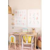 Set de 2 Láminas Decorativas (50x70 cm) Numbi Kids, imagen miniatura 1