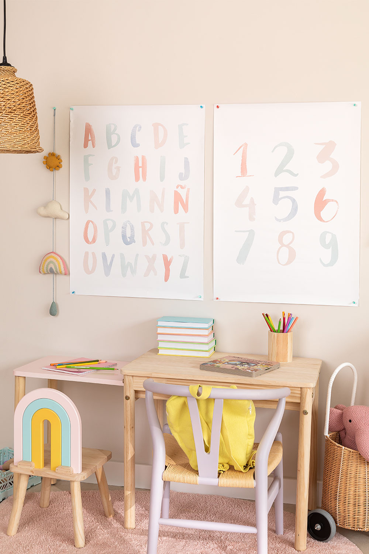 Set de 2 Láminas Decorativas (50x70 cm) Numbi Kids, imagen de galería 1