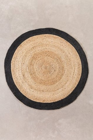 Alfombra en Yute Natural Redonda (Ø150 cm) Dagna