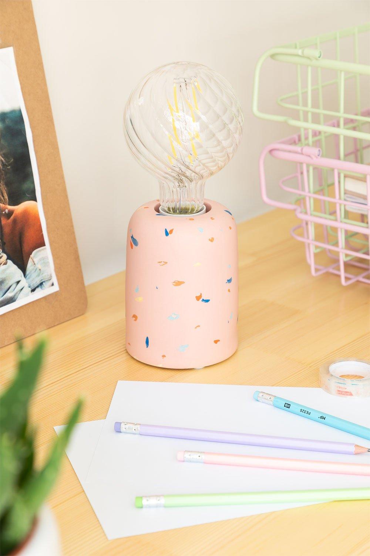 Lámpara de Mesa en Cerámica Queny, imagen de galería 1