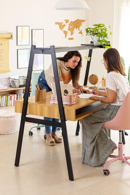 Escritorio en Acero y Melamina Bhan, imagen de galería 1