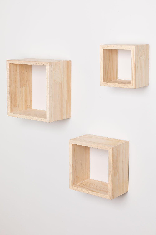 Set de 3 Estantes de Pared en Madera Domaks, imagen de galería 1