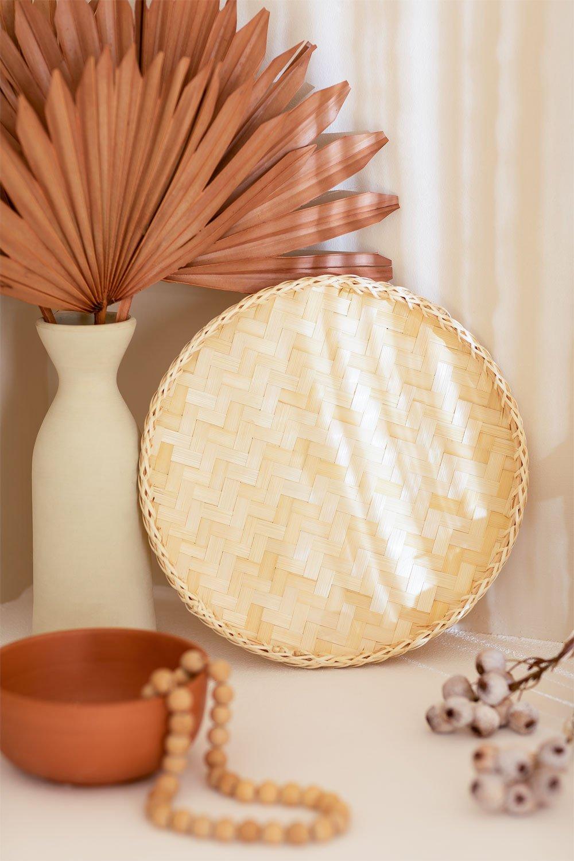 Bandeja Decorativa en Bambú (Ø30 cm) Raimis, imagen de galería 1