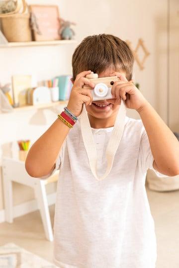 Cámara de Fotos en Madera de Pino Nakom Kids