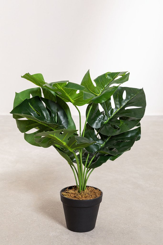 Planta Artificial Decorativa Monstera, imagen de galería 1