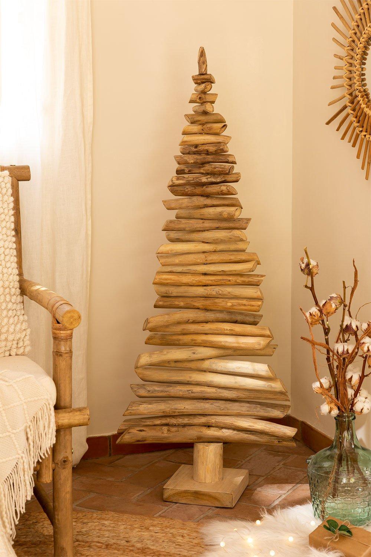 Árbol de Navidad en Madera de Teca Jingle, imagen de galería 1