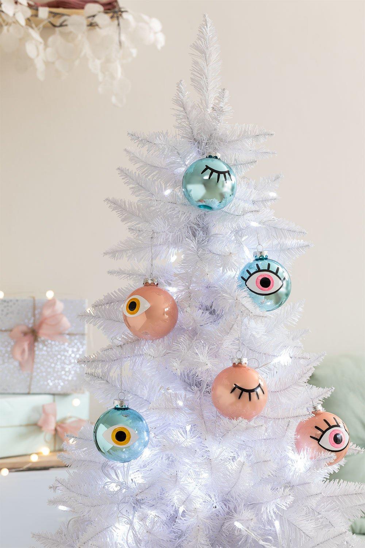 Set de 6 Adornos de Navidad Eyes, imagen de galería 1