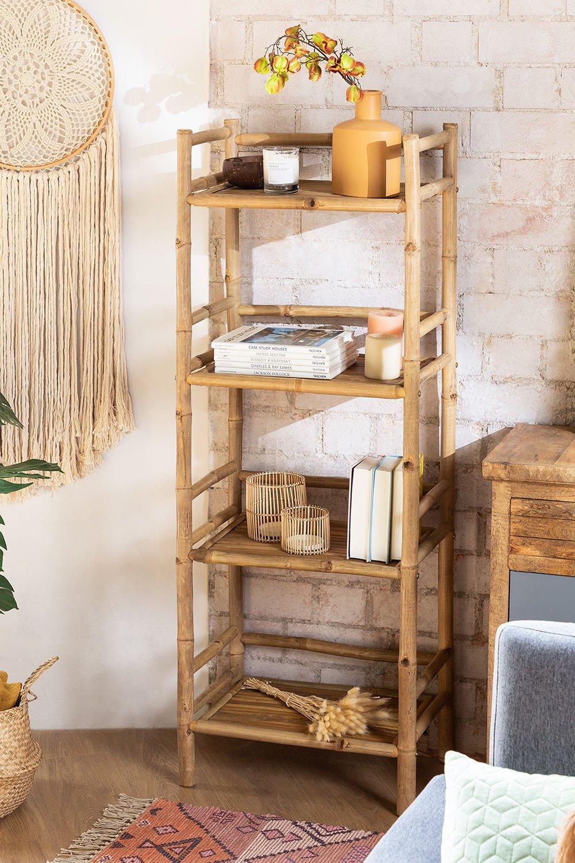 Estantería 4 baldas en Bambú Ruols, imagen de galería 1