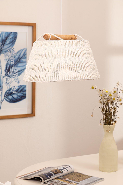 Lámpara de Techo en Papel Trenzado Druk, imagen de galería 1