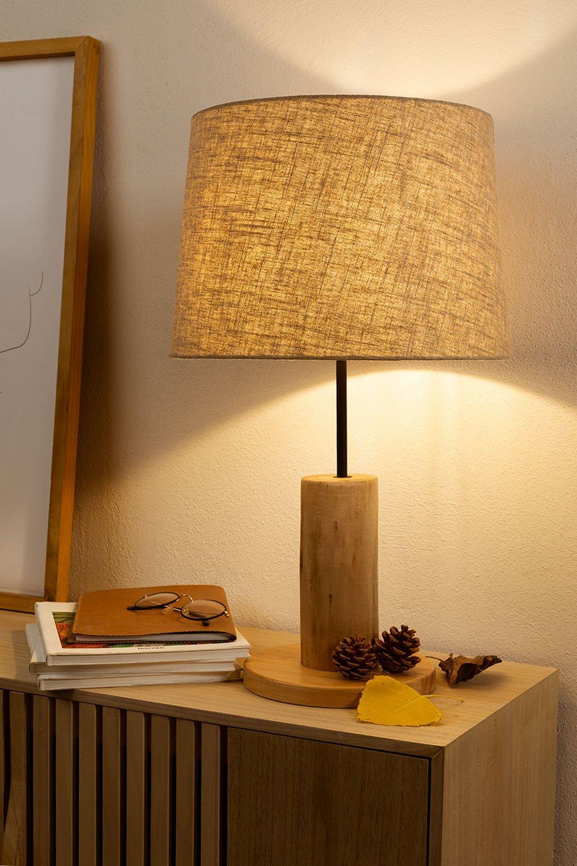 Lámpara de Mesa en Lino y Madera Ulga, imagen de galería 1
