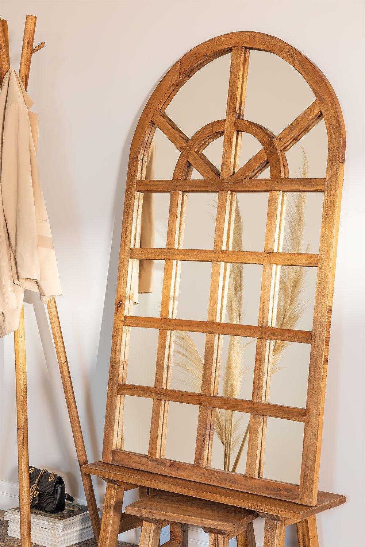 Espejo en Madera Reciclada Efecto Ventana (149x87 cm) Vient, imagen de galería 1