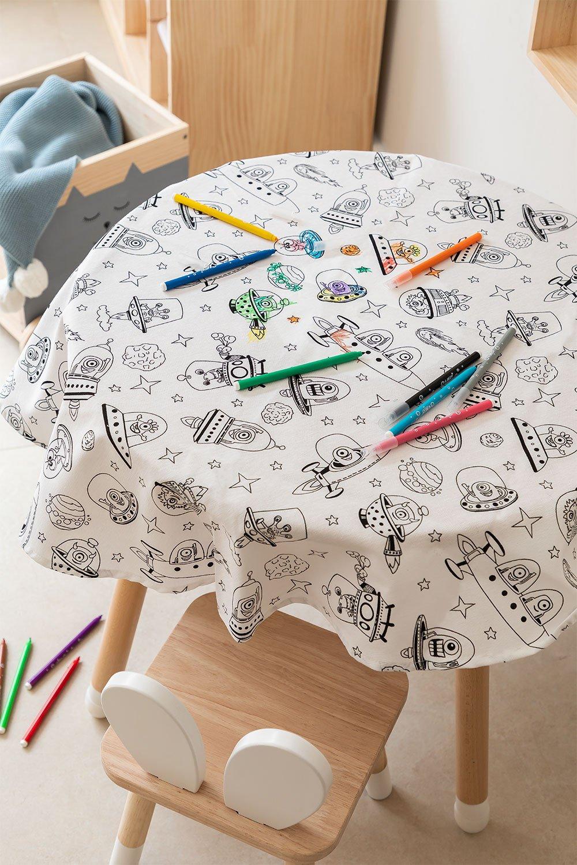 Mantel Lavable con 12 Rotuladores para Colorear Fanni Kids, imagen de galería 1