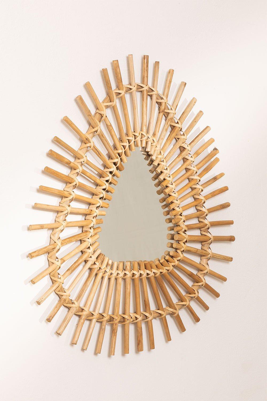 Espejo de Pared Triangular en Bambú (56x56 cm) Aube, imagen de galería 1