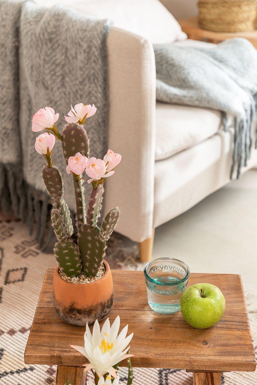 Cactus Artificial con Flores Opuntia, imagen de galería 1