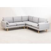 Canapé d'angle 5 places en tissu Austin, image miniature 2