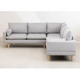 Canapé d'angle 5 places en tissu Austin, image miniature 3