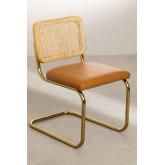 Chaise de salle à manger en similicuir doré Tento, image miniature 2