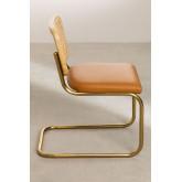 Chaise de salle à manger en similicuir doré Tento, image miniature 3