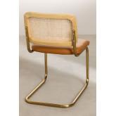 Chaise de salle à manger en similicuir doré Tento, image miniature 4