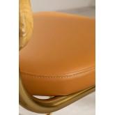 Chaise de salle à manger en similicuir doré Tento, image miniature 6