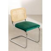 Chaise de salle à manger en velours Tento, image miniature 2