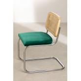 Chaise de salle à manger en velours Tento, image miniature 3