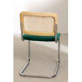 Chaise de salle à manger en velours Tento, image miniature 4
