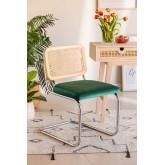Chaise de salle à manger en velours Tento, image miniature 1