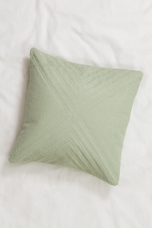 Coussin avec broderie en coton (45x45 cm) Pufi, image de la galerie 1