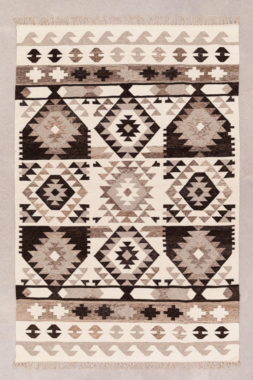 Tapis en laine et coton (250x165 cm) Logot, image de la galerie 1