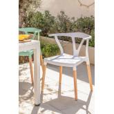 Chaise de jardin en polyéthylène et bois d'Uish, image miniature 1