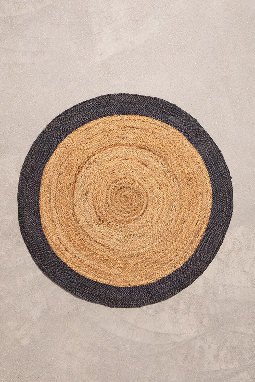 Tapis rond en jute naturel Dagna Colors, image de la galerie 1