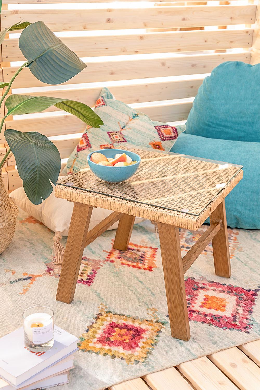 Table basse en osier synthétique Gerder, image de la galerie 1