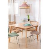 Table à manger carrée en MDF (100x100 cm) Kerhen, image miniature 1