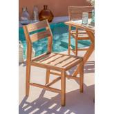 Chaise de jardin en bois de teck Yolen, image miniature 1