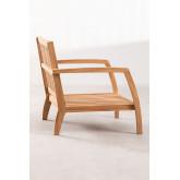 Fauteuil de jardin en bois de teck Confi, image miniature 3