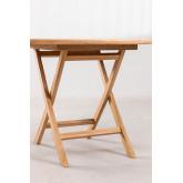 Table de jardin pliante en bois de teck (Ø100 cm) Pira, image miniature 3