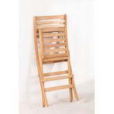 Chaise de jardin pliante en bois de teck Nicola , image miniature 6