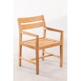 Chaise de jardin avec accoudoirs en bois de teck Yolen, image miniature 2